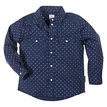 Buy Polarn O. Pyret Star Print Shirt, Indigo Online at johnlewis.com