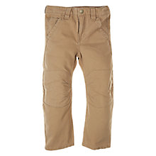 Buy Polarn O. Pyret Twill Trousers, Brown Online at johnlewis.com