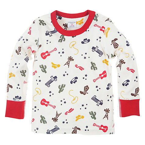 Buy Polarn O. Pyret Wild West Top, White Online at johnlewis.com