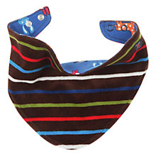 Buy Polarn O. Pyret Reversible Bib, Indigo Online at johnlewis.com