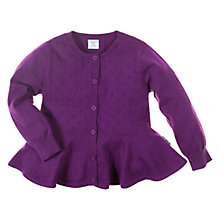 Buy Polarn O. Pyret Fine Knit Cardigan, Purple Online at johnlewis.com