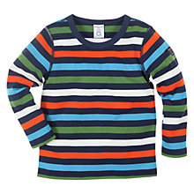 Buy Polarn O. Pyret Striped Long Sleeve Top, Multi Online at johnlewis.com