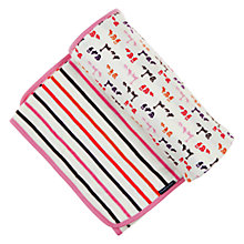 Buy Polarn O. Pyret Stockholm Blanket, White/Multi Online at johnlewis.com