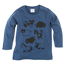 Buy Polarn O. Pyret Prairie Animal Top, Deep Sea Online at johnlewis.com