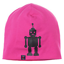 Buy Polarn O. Pyret Robot Beanie Hat, Pink Online at johnlewis.com