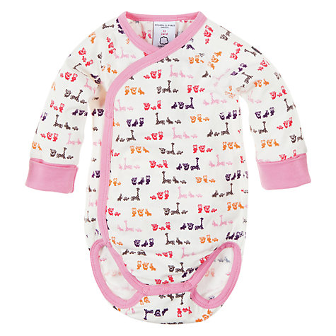 Buy Polarn O. Pyret Wraparound Bodysuit, Macaroon Online at johnlewis.com