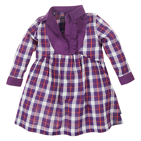 Buy Polarn O. Pyret Check Dress, Purple Online at johnlewis.com
