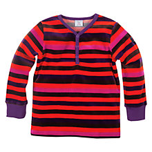 Buy Polarn O. Pyret Striped Long Sleeve Top, Blackberry Online at johnlewis.com