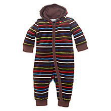 Buy Polarn O. Pyret Stripe Bodysuit, Cocoa Online at johnlewis.com