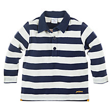 Buy Polarn O. Pyret Striped Long Sleeve Polo Shirt, Indigo Online at johnlewis.com