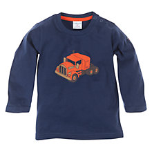 Buy Polarn O. Pyret Truck Long Sleeve Top, Indigo Online at johnlewis.com