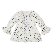 Buy Polarn O. Pyret Little Star Print Blouse, White Online at johnlewis.com