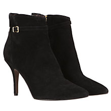 Buy Mint Velvet Kitten Heel Buckle Ankle Boot, Black Online at johnlewis.com