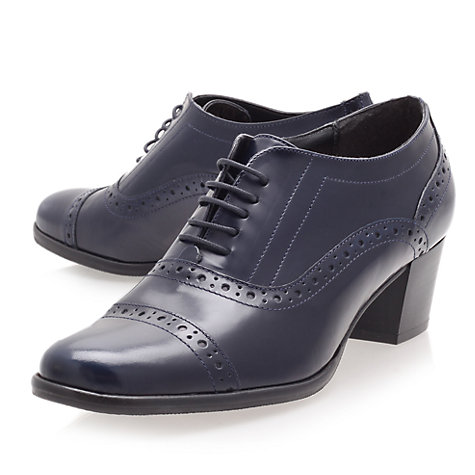 Buy Carvela Act Heeled Brogue Shoes, Navy Online at johnlewis.com