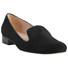 Buy L.K. Bennett Lisa Suede Slipper Shoes, Black Online at johnlewis.com