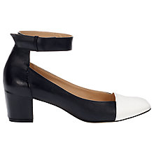 Buy Whistles Nico Court Shoes, Black Online at johnlewis.com