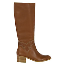 Buy NW3 by Hobbs Kara Longboot Knee Boot, Tan Online at johnlewis.com