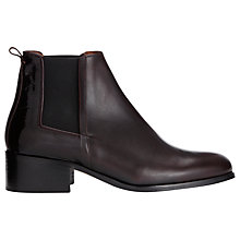 Buy Whistles Beaufort Chelsea Ankle Boots, Plum Online at johnlewis.com