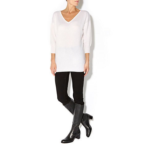 Buy Hobbs Lucy Calf Boots, Black Online at johnlewis.com