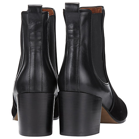 Buy Whistles Carlie Chelsea Ankle Boots, Black Online at johnlewis.com
