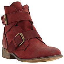 Buy Steve Madden Teritory Ankle Boots, Burgundy Online at johnlewis.com