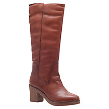 Buy Carvela Walk Leather Calf Boots, Tan Online at johnlewis.com