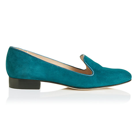 Buy L.K. Bennett Lisa Suede Slipper Shoes, Peacock Online at johnlewis.com