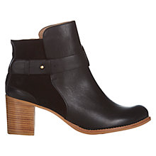 Buy NW3 by Hobbs Otto Leather Ankle Boots, Black Online at johnlewis.com