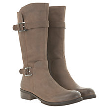 Buy Mint Velvet Double Buckle Calf Boots, Mole Online at johnlewis.com