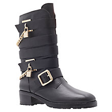 Buy Carvela Stamp Ankle Boots, Black Online at johnlewis.com