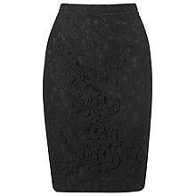 Buy L.K. Bennett Liliyan Lace Skirt, Black Online at johnlewis.com