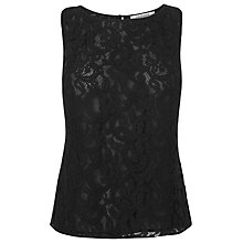 Buy L.K. Bennett Leila Lace Top, Black Online at johnlewis.com