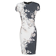 Buy Mango Oriental Print Dress, Dark Grey Online at johnlewis.com