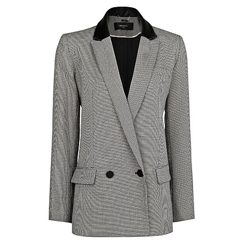 Buy Mango Houndstooth Suit Blazer, Black Online at johnlewis.com