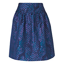 Buy L.K. Bennett Aminta Jacquard Snake Print Skirt, Emerald Green Online at johnlewis.com