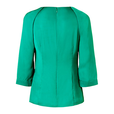Buy L.K. Bennett India Top, Emerald Green Online at johnlewis.com