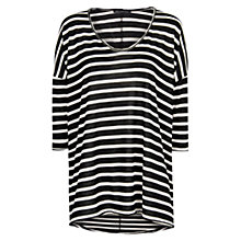 Buy Mango Striped T-Shirt, Black Online at johnlewis.com