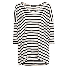 Buy Mango Striped T-Shirt, Natural White Online at johnlewis.com