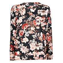 Buy Mango Floral Print Jumper, Dark Grey Online at johnlewis.com