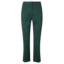 Buy Viyella Jacquard Trousers, Emerald Online at johnlewis.com