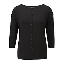 Buy Viyella Bead Top, Black Online at johnlewis.com