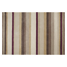 Buy John Lewis Multi Stripe Rugs, Prune Online at johnlewis.com