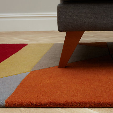 Buy John Lewis Pyramid Rug, Red Online at johnlewis.com