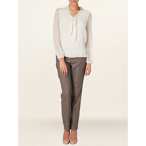 Buy Phase Eight Zahara Trousers, Neutral Online at johnlewis.com