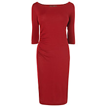 Buy Phase Eight Roxanna Ruched Dress, Red Online at johnlewis.com