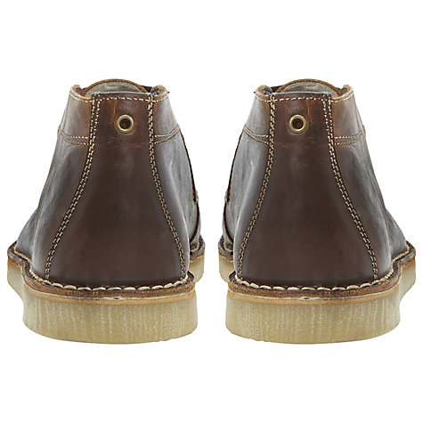 Buy Bertie Cornwall Leather Wedge Desert Boots, Tan Online at johnlewis.com