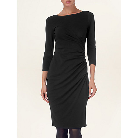 Buy Phase Eight Ruched Dress, Black Online at johnlewis.com