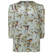 Buy Phase Eight Emmie Bird Blouse, Duck Egg Online at johnlewis.com