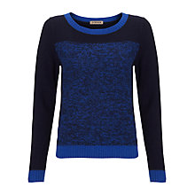 Buy Jigsaw Moulinee Colour Block Jumper, Blue Online at johnlewis.com