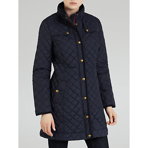 Buy Joules Fairhurst Quilted Jacket, Marine Navy Online at johnlewis.com